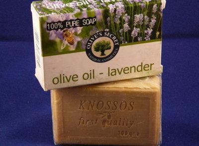 olijfolie zeep, lavendel, diverse zepen