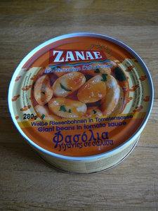 Gigantes-Griekse dikke bonen in tomatensaus